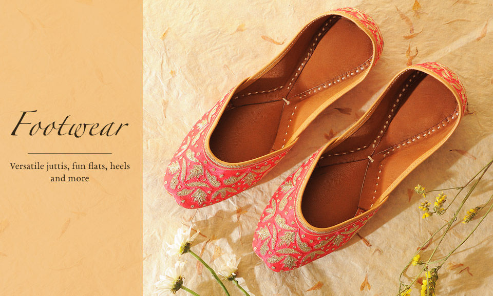 de76bfa287b7 Buy Handcrafted Footwear for Men   Women Online at Jaypore.com
