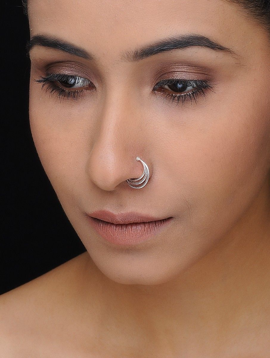 Buy Classic Silver Nose Pin Online At Jaypore Com