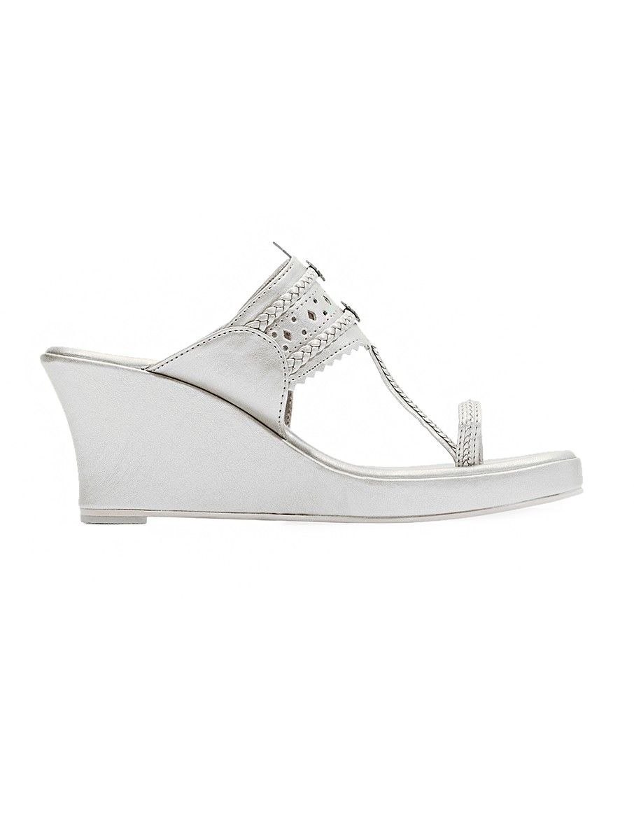 Buy Silver Handcrafted Wedges Online At Jaypore Com