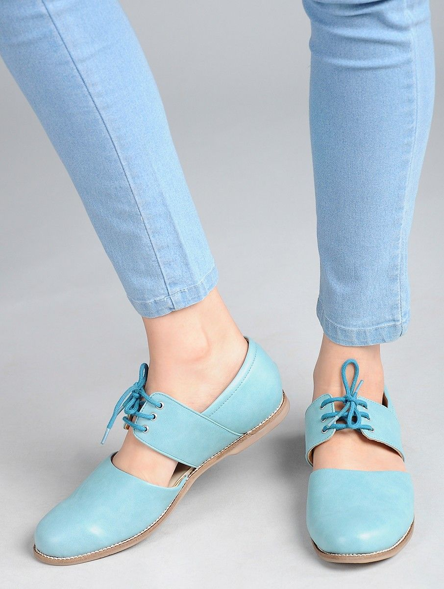 Powder Blue Handcrafted Shoes Online At Jaypore