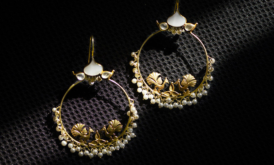 A Silver Sea Devi Jaipur Earrings Maang Tikkaore With Pearls Gemstones Online At Jaypore