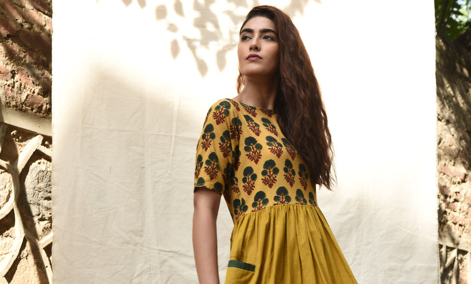373d0d451e Buy The Indie Route Silai Studio Ajrakh-printed cotton dresses to ...