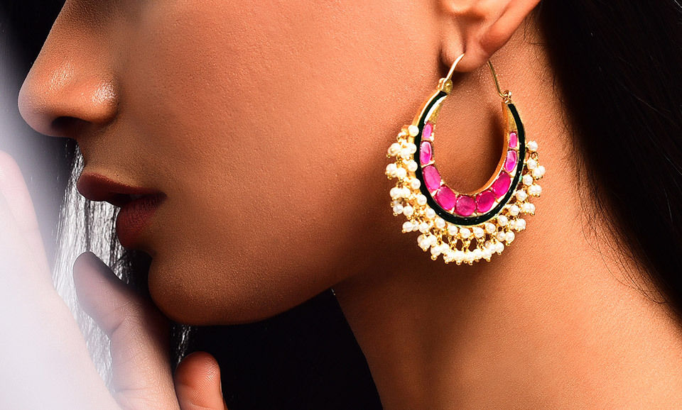 0012f5ae7f6e06 Buy A Golden Allure Dazzling Danglers Sparkle and shine in glorious gold-tone  earrings Online at Jaypore.com