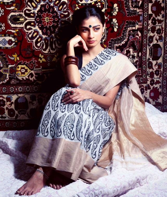 Buy An Elegant Affair Block Printed Maheshwari Cotton Silk Sarees Dupattas Online at Jaypore.com
