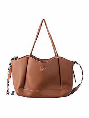 Tan Handcrafted Faux Leather Sling Bag