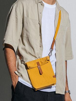 Mustard Canvas Sling Bag