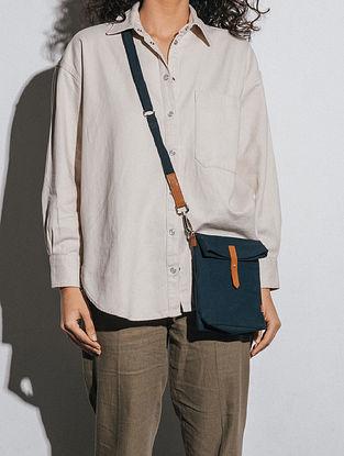 Midnight Blue Canvas Sling Bag