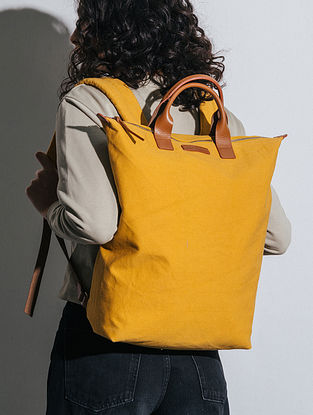 Mustard Canvas Backpack