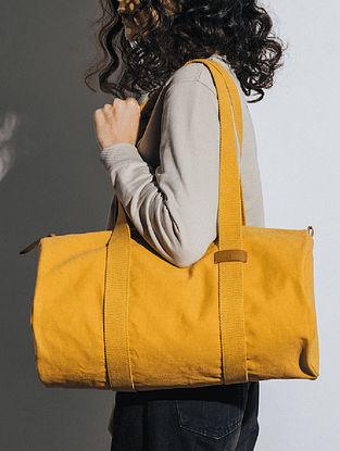 Mustard Canvas Duffle Bag
