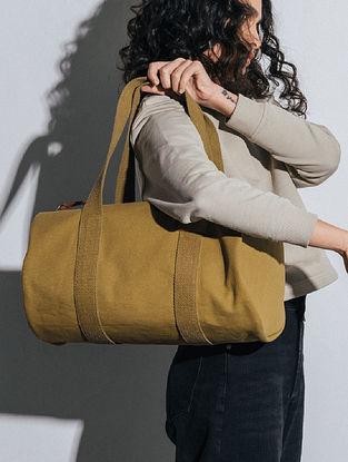 Olive Green Canvas Duffle Bag