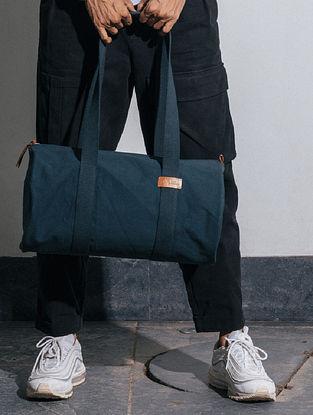 Midnight Blue Canvas Duffle Bag