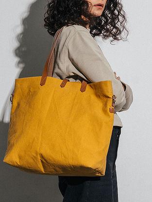Mustard Canvas Tote Bag