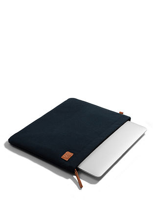 Midnight Blue Canvas Laptop Sleeve