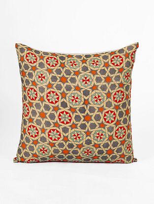 Multicolor Cotton Digital Printed Cushion cover (L- 16in, W- 16in)