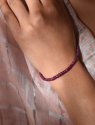 Red Ruby Beaded Bracelet
