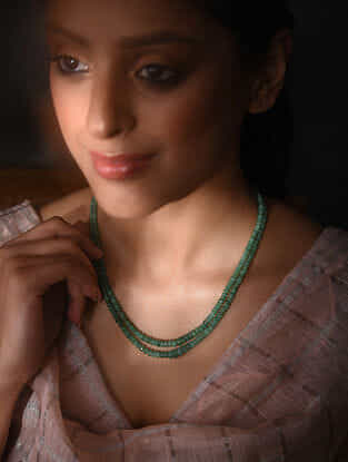 Green Emerald Layered Beaded Necklace