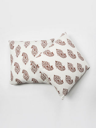 Contrast Living Guruin Cotton Printed Cushion Covers (Set of 2) (20in x 20in)