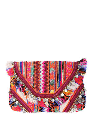 Multicolored Handcrafted Acrylic Clutch