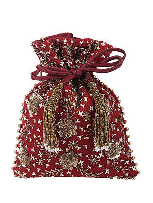Red Handcrafted Potli