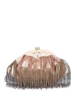 Copper Handcrafted Brocade Silk Clutch