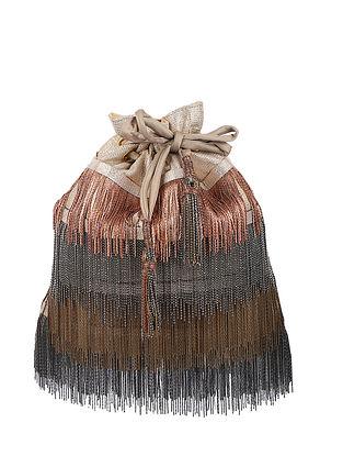 Copper Handcrafted Brocade Silk Potli