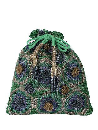 Green Handcrafted Potli