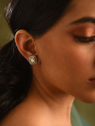Gold and Diamond Earrings with Diamond and Weight