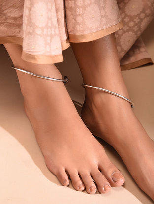 Tribal Silver Anklet (Pair of 2)