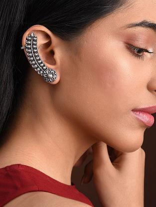 Tribal Silver Ear Clips