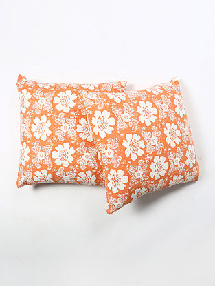 Contrast Living Shitale Cotton Printed Cushion Covers (Set of 2) (20in x 20in)
