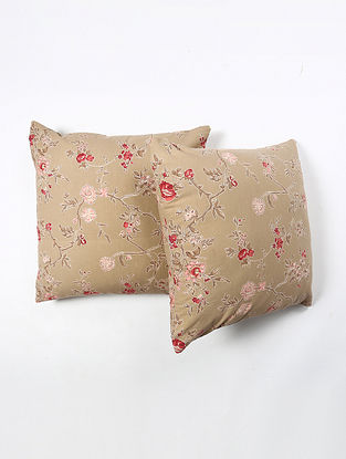 Contrast Living Hiple Cotton Printed Cushion Covers (Set of 2) (20in x 20in)