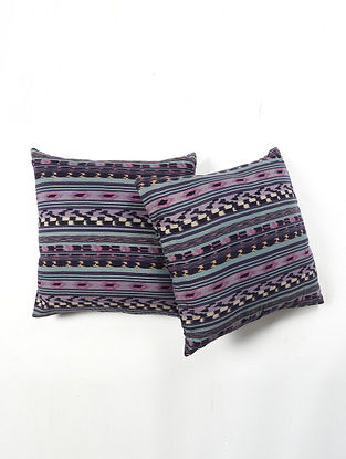 Contrast Living Vpan Cotton Printed Cushion Covers (Set of 2) (20in x 20in)
