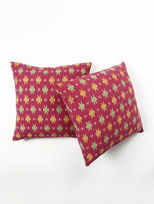 Contrast Living Dharma Cotton Printed Cushion Covers (Set of 2) (20in x 20in)