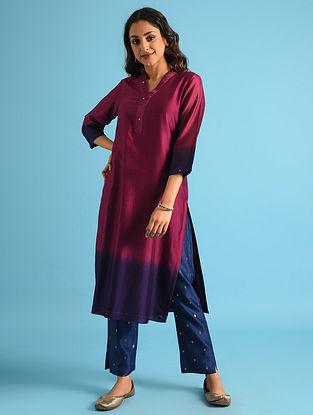 Majenta Dip Dyed Chanderi Kurta with Cotton Lining
