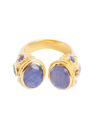Gold Plated Sterling Silver Adjustable Ring
