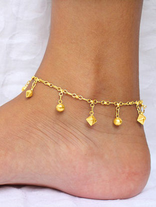 Gold Plated Sterling Silver Anklet