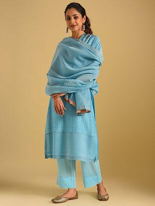 Turquoise Cotton Dupatta