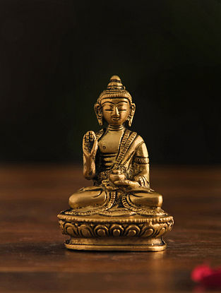 Brass Buddha Table Top Accent (L-1in, W-2in, H-3in)
