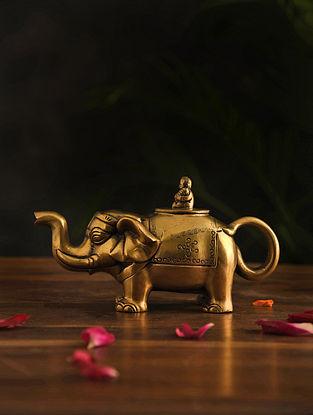 Brass Elephant Kettle (L-9in, W-2.2in, H-3in)