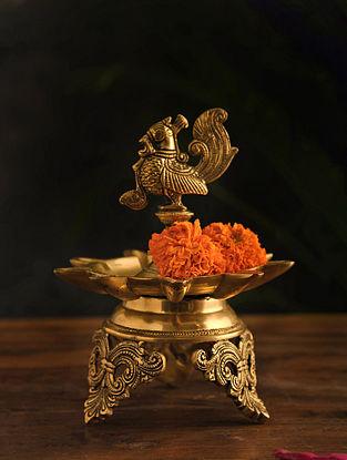 Brass Lamp (Dia-7.2in, H-9.5in)