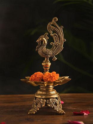 Brass Lamp (Dia-7.3in, H-13.7in)