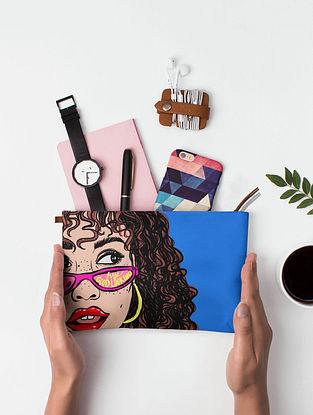 Multicolored Printed Canvas Pouch