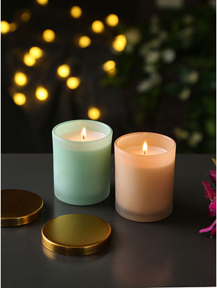 Sceneted Candles Set of 2 (Dia-3in, H-3.5in)
