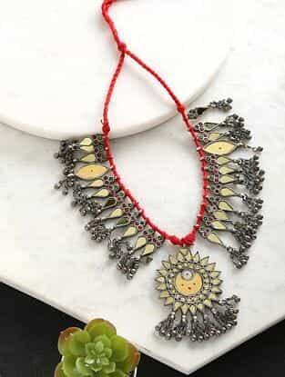 Red Dual Tone Tribal Afghani Necklace