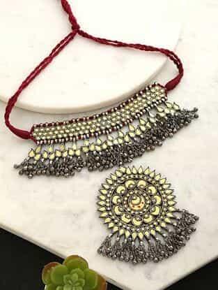Dual Tone Tribal Afghani Necklace