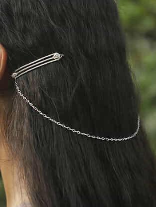 Tribal Silver Hair Clip