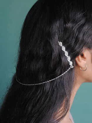 Tribal Silver Hair Clip