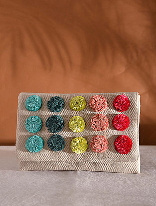 Multicolored Handcrafted Woven Pouch
