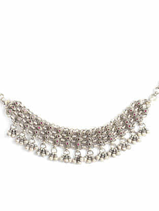 Tribal Silver Necklace With Ruby