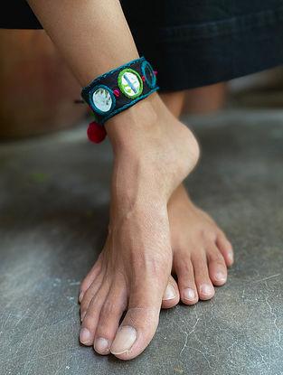 Blue Black Handcrafted Anklet
